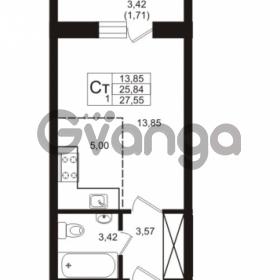 Продается квартира 1-ком 25.84 м² Охтинская аллея 4, метро Девяткино