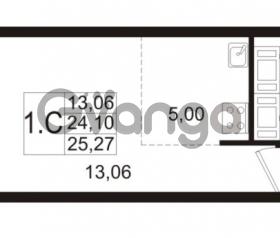 Продается квартира 1-ком 24.1 м² улица Адмирала Черокова 18к 2, метро Проспект Ветеранов