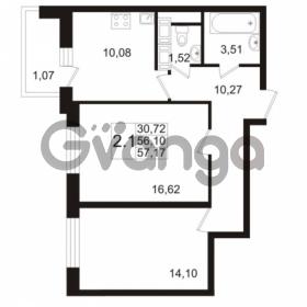 Продается квартира 2-ком 56.1 м² улица Адмирала Черокова 18к 2, метро Проспект Ветеранов