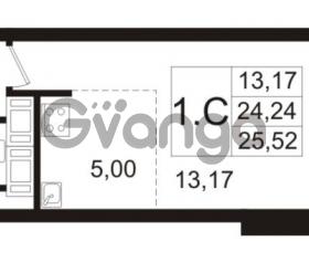 Продается квартира 1-ком 24.24 м² улица Адмирала Черокова 18к 3, метро Проспект Ветеранов