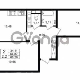 Продается квартира 2-ком 64.87 м² Столичная улица 1, метро Улица Дыбенко
