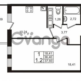 Продается квартира 1-ком 36.4 м² Столичная улица 1, метро Улица Дыбенко