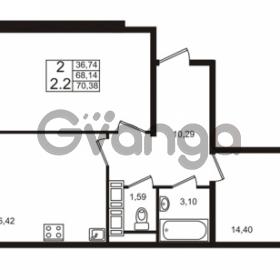 Продается квартира 2-ком 68.14 м² Столичная улица 1, метро Улица Дыбенко