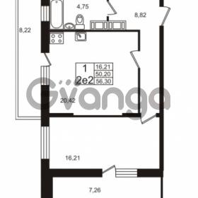 Продается квартира 1-ком 50.2 м² Столичная улица 1, метро Улица Дыбенко
