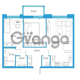 Продается квартира 3-ком 57 м² Дальневосточный проспект 12, метро Проспект Большевиков