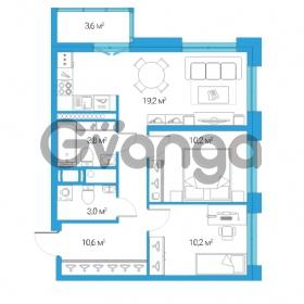 Продается квартира 3-ком 57.4 м² Дальневосточный проспект 12, метро Проспект Большевиков