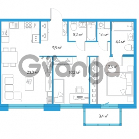 Продается квартира 3-ком 64.2 м² Дальневосточный проспект 12, метро Проспект Большевиков