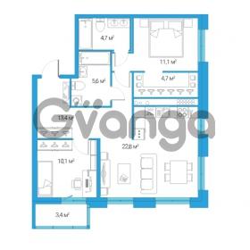 Продается квартира 3-ком 72.4 м² Дальневосточный проспект 12, метро Проспект Большевиков