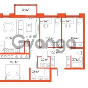 Продается квартира 4-ком 76 м² Дальневосточный проспект 12, метро Проспект Большевиков