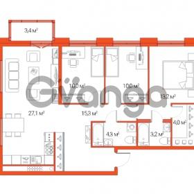 Продается квартира 4-ком 87.1 м² Дальневосточный проспект 12, метро Проспект Большевиков