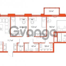 Продается квартира 4-ком 93.8 м² Дальневосточный проспект 12, метро Проспект Большевиков