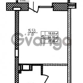 Продается квартира 1-ком 24.14 м² бульвар Менделеева 9, метро Девяткино