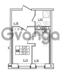 Продается квартира 1-ком 22.67 м² Привокзальная улица 1, метро Купчино