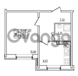 Продается квартира 1-ком 34.53 м² Привокзальная улица 1, метро Купчино