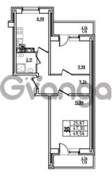 Продается квартира 2-ком 49.56 м² Привокзальная улица 1, метро Купчино