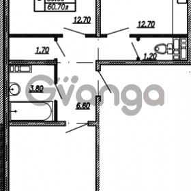 Продается квартира 2-ком 60.7 м² улица Бабушкина 82к 1, метро Пролетарская