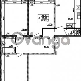 Продается квартира 3-ком 84.6 м² улица Бабушкина 82к 1, метро Пролетарская