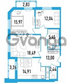 Продается квартира 3-ком 84.78 м² Дунайский проспект 13к 2, метро Звездная
