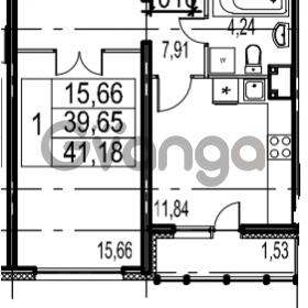 Продается квартира 1-ком 41.18 м² Парашютная улица 54, метро Комендантский проспект