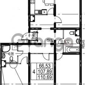 Продается квартира 4-ком 110.69 м² Парашютная улица 54, метро Комендантский проспект