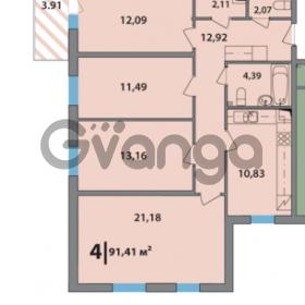 Продается квартира 4-ком 91.2 м² 2-я Комсомольская улица 42, метро Проспект Ветеранов