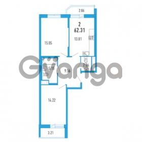 Продается квартира 2-ком 62.31 м² Петровский бульвар 3, метро Девяткино