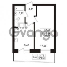 Продается квартира 1-ком 33.48 м² Европейский проспект 1, метро Улица Дыбенко