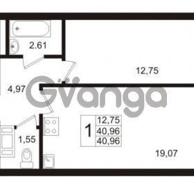 Продается квартира 1-ком 40.96 м² Европейский проспект 1, метро Улица Дыбенко