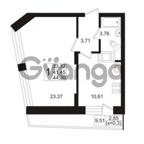 Продается квартира 1-ком 41.87 м² Европейский проспект 1, метро Улица Дыбенко