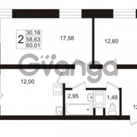 Продается квартира 2-ком 58.63 м² Европейский проспект 1, метро Улица Дыбенко