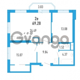 Продается квартира 2-ком 69.28 м² Петровский бульвар 3, метро Девяткино