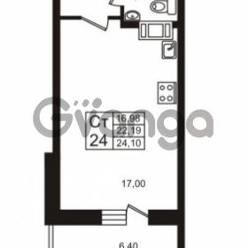 Продается квартира 1-ком 24.1 м² проспект Авиаторов Балтики 3, метро Девяткино