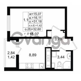 Продается квартира 1-ком 31.18 м² проспект Энергетиков 9, метро Ладожская