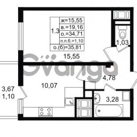 Продается квартира 1-ком 34.71 м² проспект Энергетиков 9, метро Ладожская