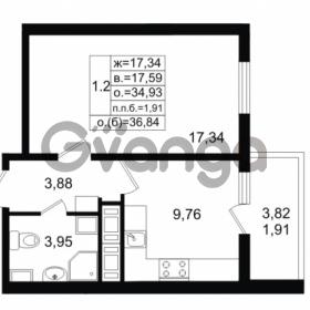 Продается квартира 1-ком 34.93 м² проспект Энергетиков 9, метро Ладожская