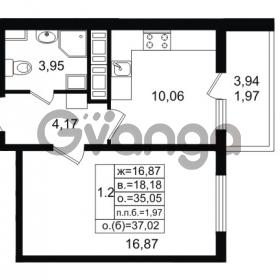 Продается квартира 1-ком 35.05 м² проспект Энергетиков 9, метро Ладожская