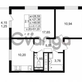 Продается квартира 2-ком 49.95 м² проспект Энергетиков 9, метро Ладожская