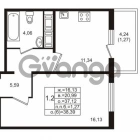 Продается квартира 1-ком 37.12 м² проспект Энергетиков 9, метро Ладожская