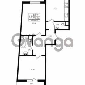 Продается квартира 2-ком 61.55 м² проспект Энергетиков 9, метро Ладожская