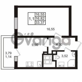 Продается квартира 1-ком 33.37 м² проспект Энергетиков 9, метро Ладожская