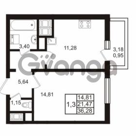 Продается квартира 1-ком 36.28 м² проспект Энергетиков 9, метро Ладожская