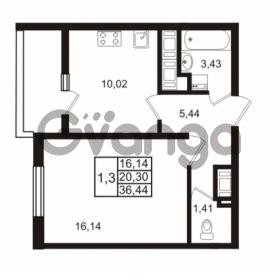 Продается квартира 1-ком 36.44 м² проспект Энергетиков 9, метро Ладожская