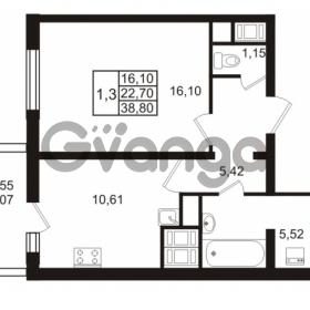 Продается квартира 1-ком 38.8 м² проспект Энергетиков 9, метро Ладожская