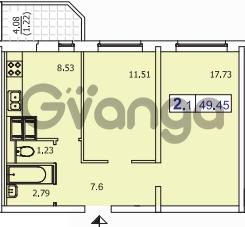 Продается квартира 2-ком 49.5 м² Пулковское шоссе 40к 2, метро Звездная