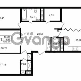 Продается квартира 3-ком 119.65 м² улица Малая Зеленина 1, метро Чкаловская