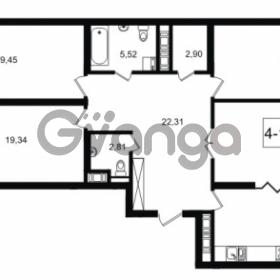 Продается квартира 4-ком 127.69 м² улица Малая Зеленина 1, метро Чкаловская