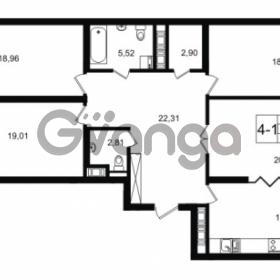 Продается квартира 4-ком 126.87 м² улица Малая Зеленина 1, метро Чкаловская