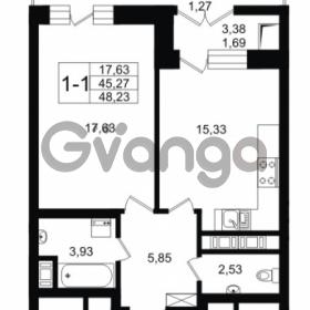 Продается квартира 1-ком 45.27 м² улица Малая Зеленина 1, метро Чкаловская