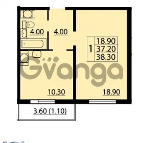 Продается квартира 1-ком 38.3 м² Маршала Блюхера 12АЭ, метро Лесная