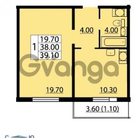 Продается квартира 1-ком 39.1 м² Маршала Блюхера 12АЭ, метро Лесная